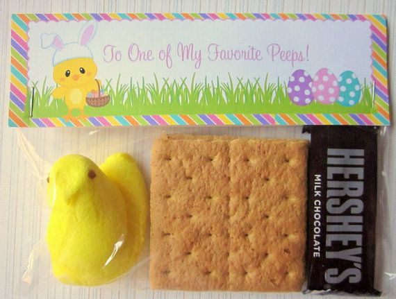 Easter Peep S'Mores DIY Printable Bag Topper File by Ciao Bambino, $6 ...