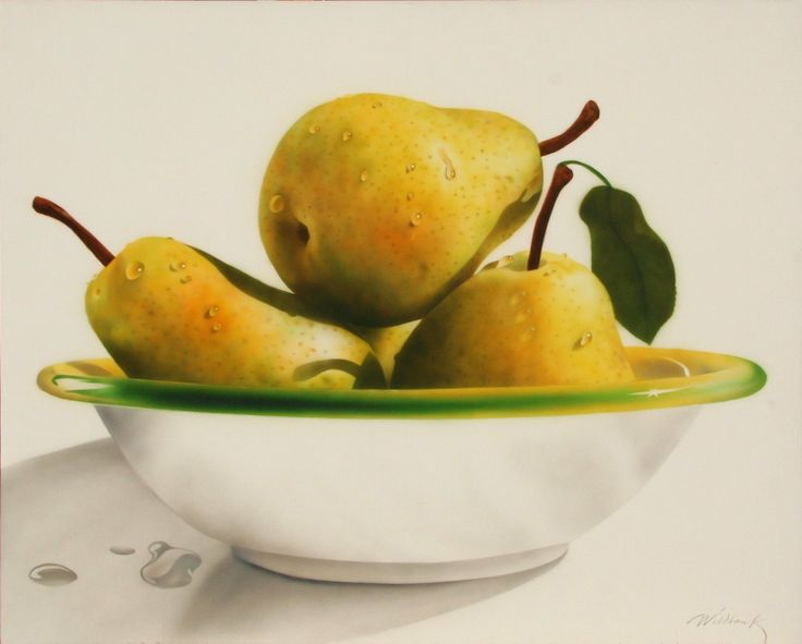 Charles Wildbank (b.1948)  —   Bowl of Pears, 1990  (1493x1200)