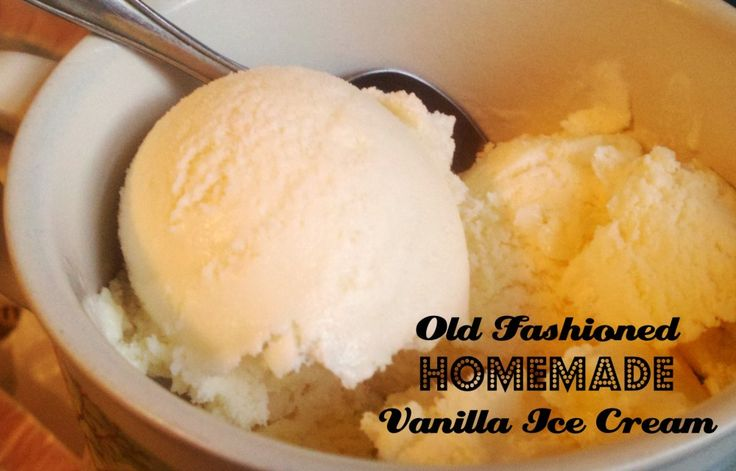 Old Fashioned Homemade Vanilla Ice Cream (with eggs)