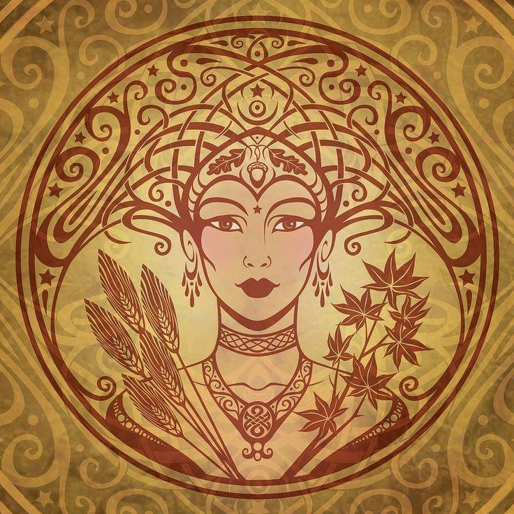 Autumn queen print by cristina mcallister - Art deco art nouveau ...