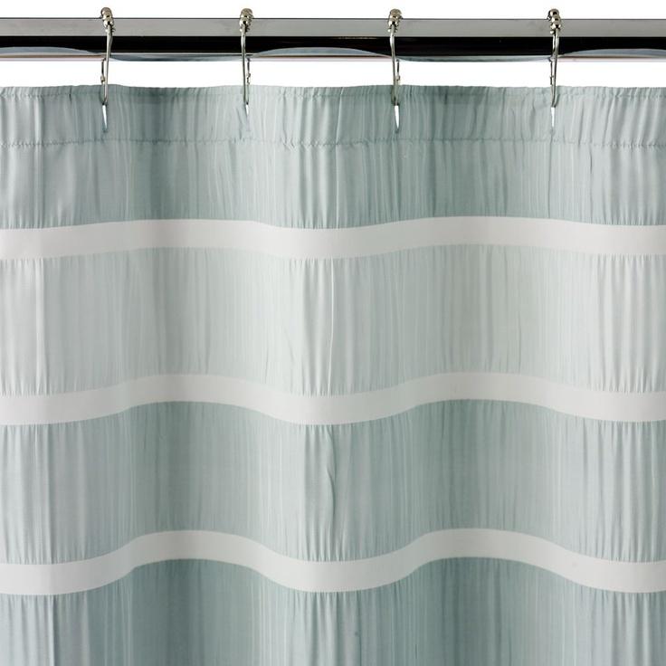 Horizontal aqua shower curtain master bath ideas pinterest for Master bathroom curtains