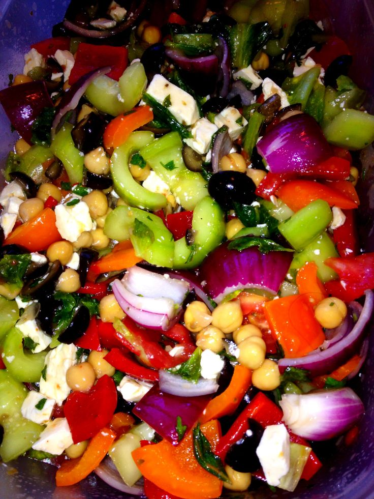 Marinated Greek vegetable salad. Yeah I came up with it after not ...