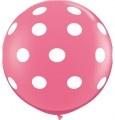 """$5.00 Light Pink Dots 36"""""""