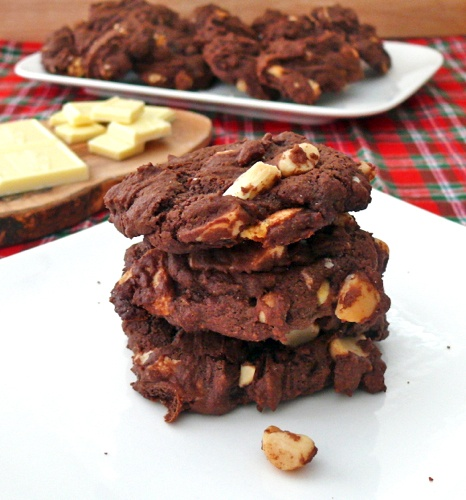 ... Double Chocolate White Chocolate Chunk Macadamia Nut Cookies