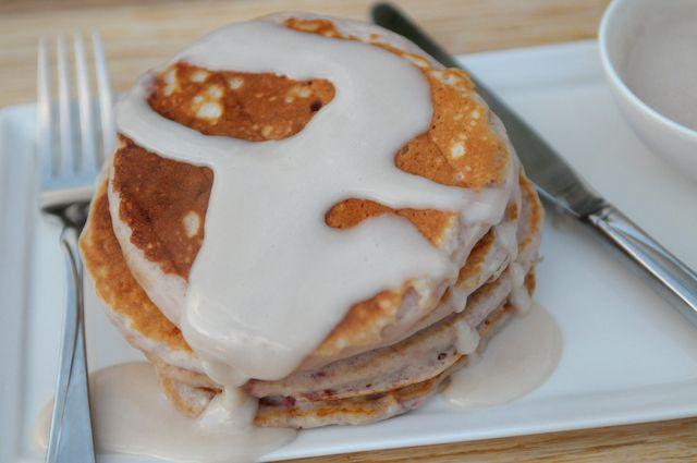 strawberry & cream pancakes | Breakfast | Pinterest