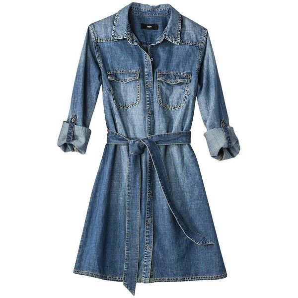 Popular DENIM SHIRT DRESS  Yellow Sandals From Zara
