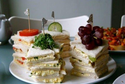 finger sandwiches tea party ideas pinterest