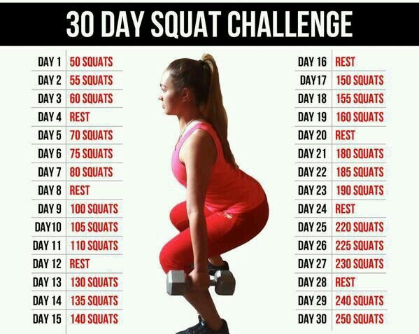 Squat challenge | Health & Fitness | Pinterest