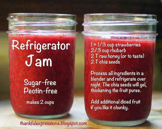 easy strawberry rhubarb jam | I Love Paleo/Primal Food | Pinterest