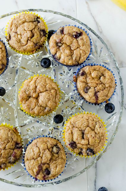 Healthy Banana Blueberry Muffins | breads and muffs | Pinterest