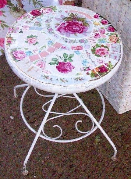 #Mosaic patio table - romantic!