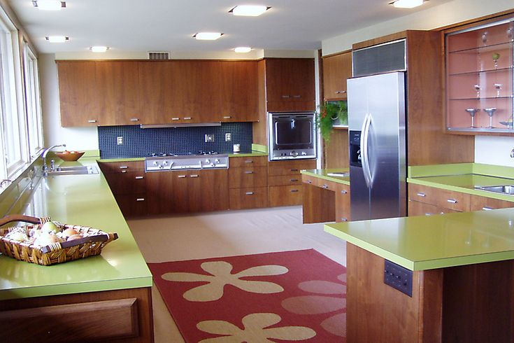 kitchen midcentury interior - photo #5