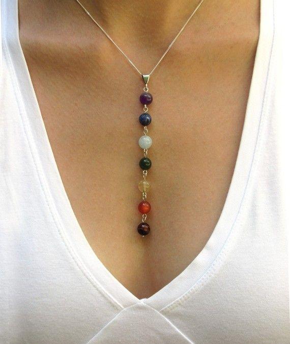 Yoga Beads: Chakra Necklace, Yoga Necklace, Chakra Pendant, Yoga