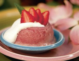 Rhubarb-Strawberry Summer Pudding Recipe | Vegetarian Times