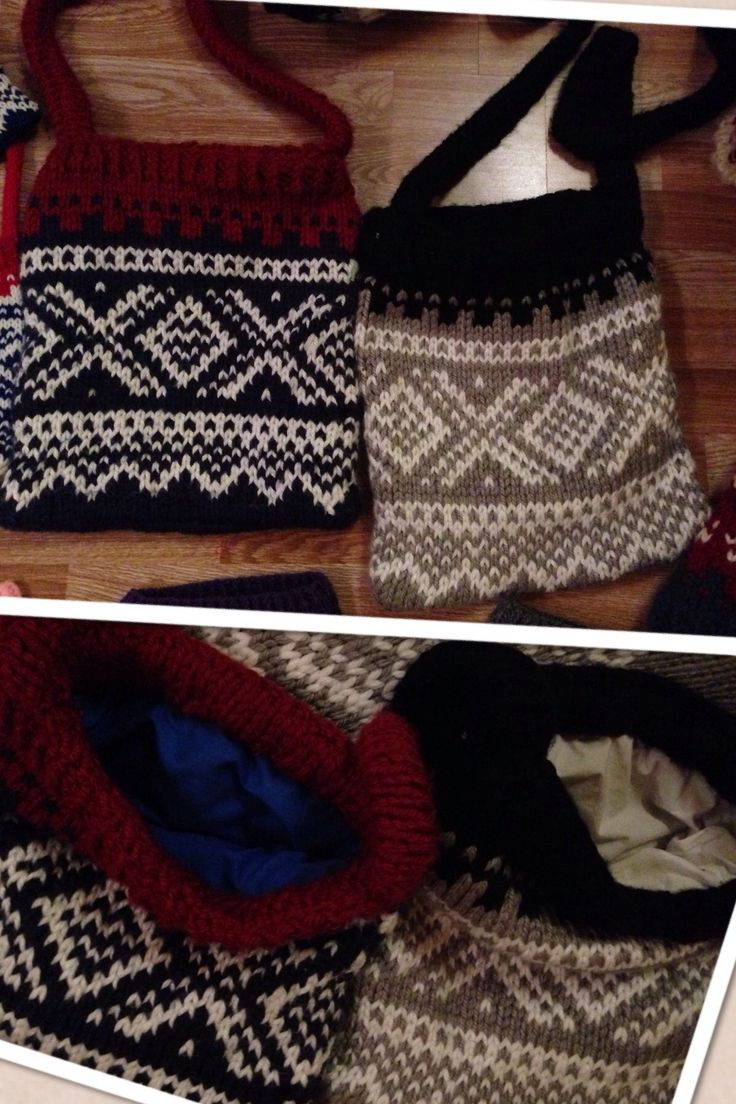 Knitted bags Marius pattern Pinterest