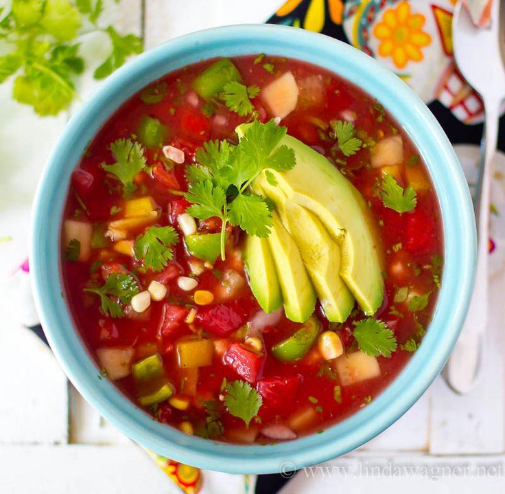 Watermelon Gazpacho | Raw soups | Pinterest