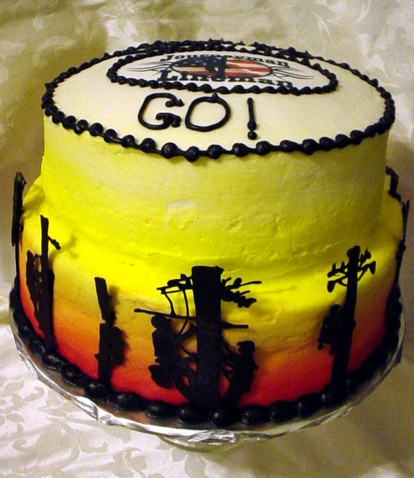 lineman birthday cake. Andy would LOVE this.
