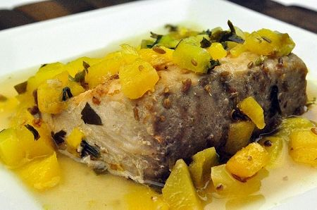 Cumin and Coriander Crusted Mahi Mahi with Mango Salsa #PaleoOnTheGo