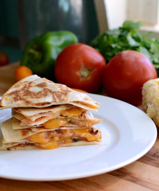Black Bean, Quinoa, and Corn Quesadillas on MyRecipeMagic.com