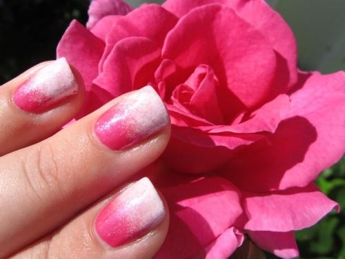 dark and light pink