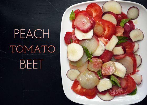 OneHungryMama Peach Tomato Beet Salad | Food | Pinterest