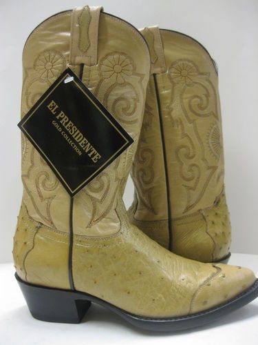 New  Collection With Anderson Bean Brown Full Quill Ostrich Cowgirl Boots