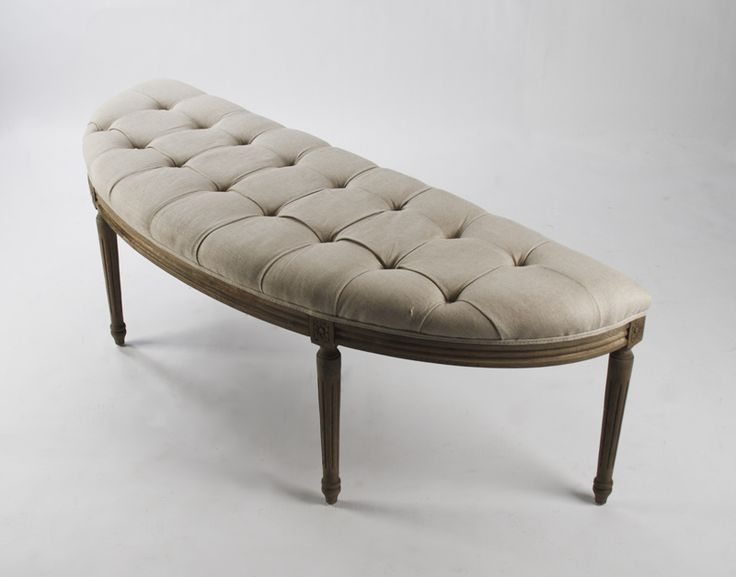 Curved Bench For The Foot Of The Bed Pour La Maison Pinterest