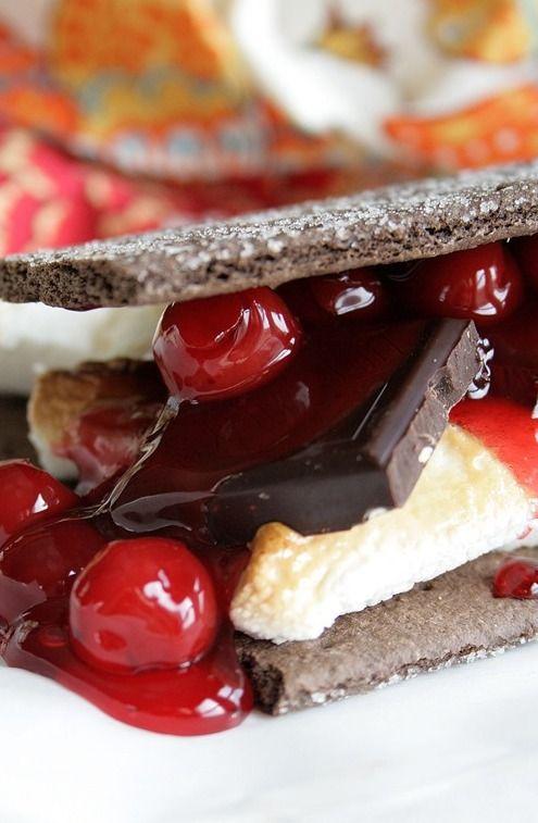 Black Forest S'mores | Sweet Eats | Pinterest