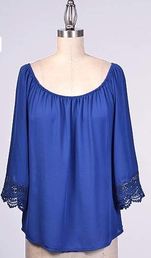 Royal lace hem peasant blouse 44 peasant clothing pinterest