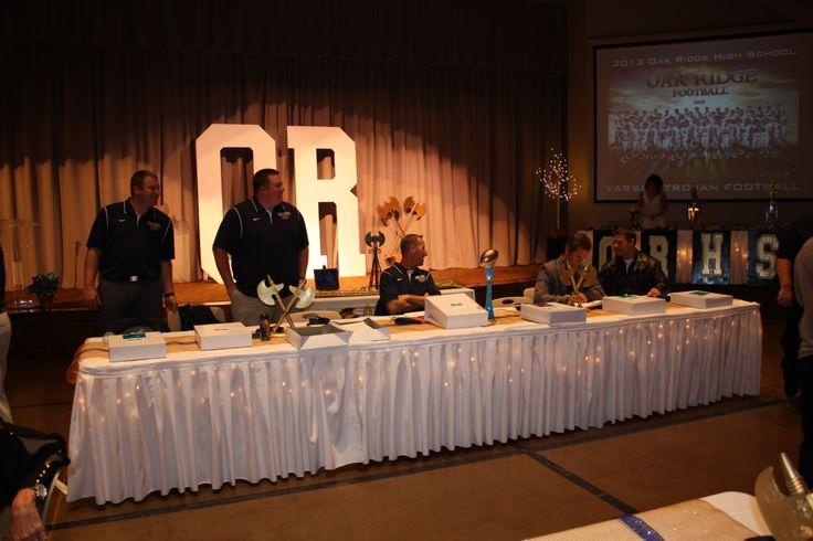 Football Banquet, Decor, Stage Decor, Coaches Table & Coaches Awards ...