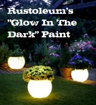 spray paint outdoor planters with rustoleum 39 s glow in the dark. Black Bedroom Furniture Sets. Home Design Ideas