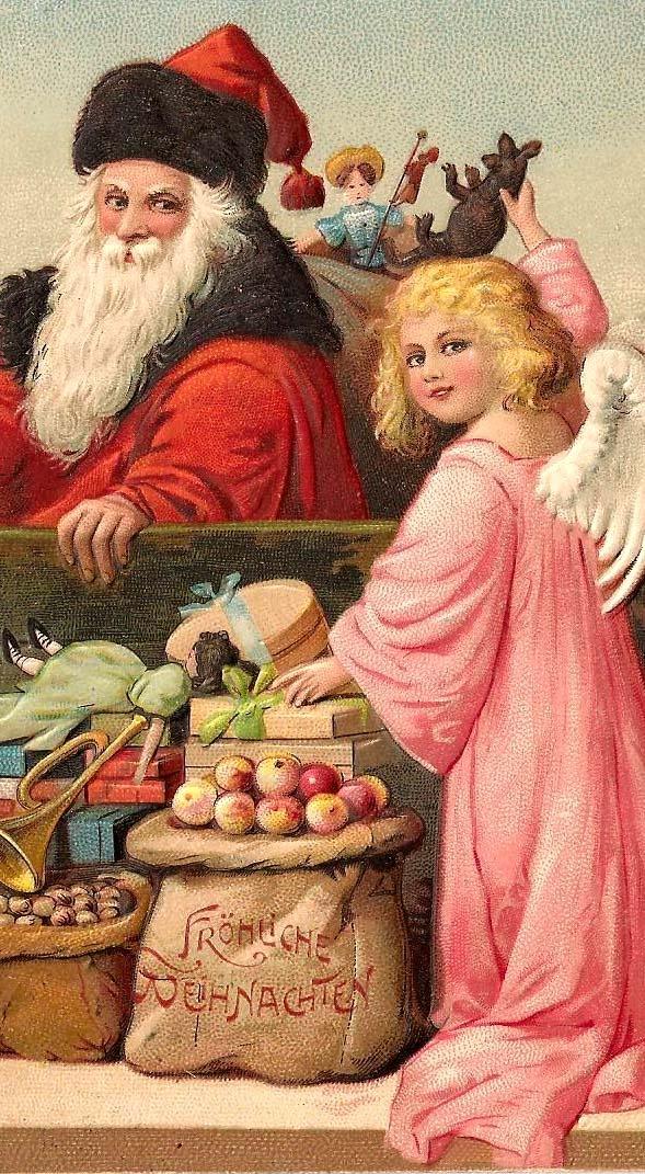 старинные Санта открытку