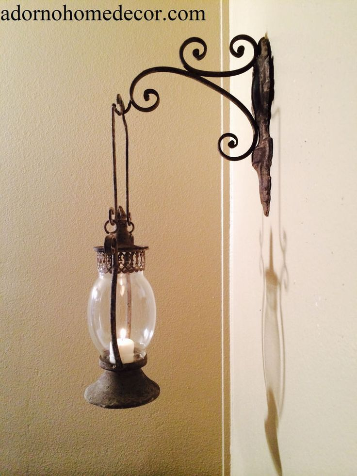 ... Wall Sconce Rustic Antique Vintage Shabby Chic Unique Candle Decor #