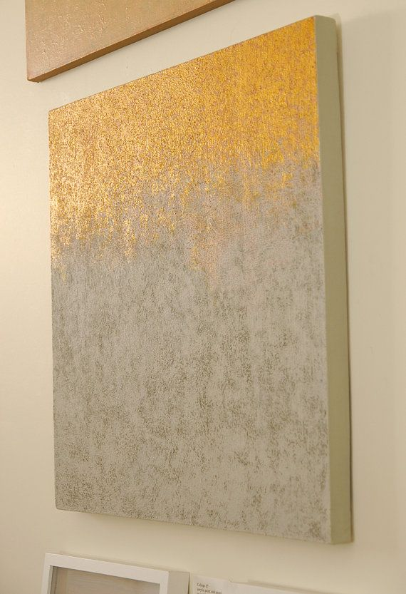 Abstract painting neutral colors and metallic gold paint for Metallic paint artwork