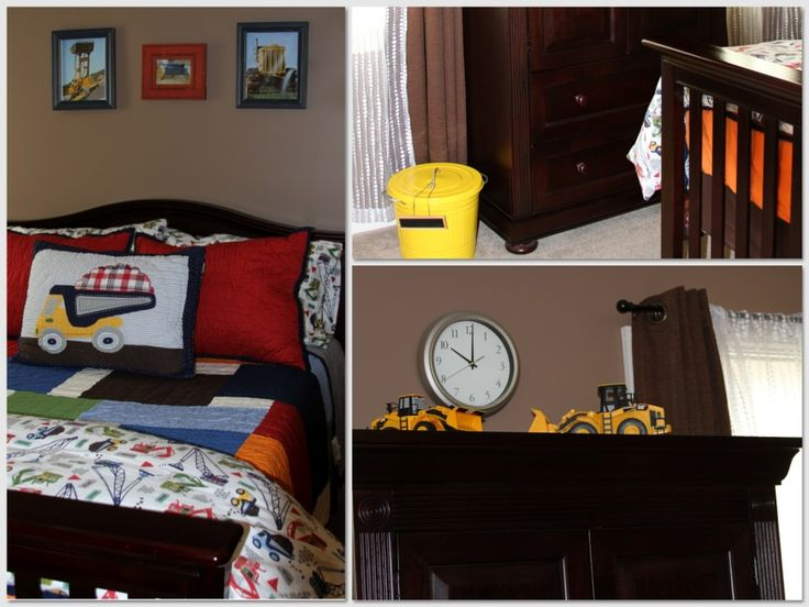 Construction themed for the kiddos pinterest for Construction themed bedroom ideas