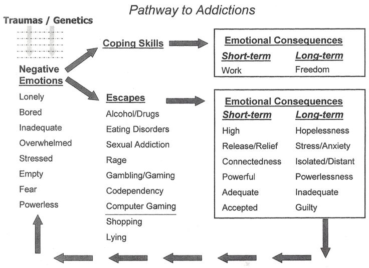 Addiction Cycle Of Emotions Worksheet Handout
