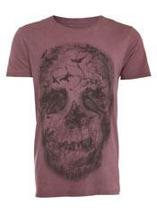 Burgandy Skull T-Shirt