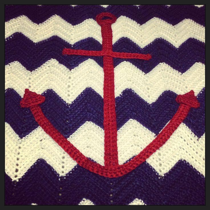 Anchor Knitting Pattern Blanket : Crochet anchor blanket Crocheting Pinterest