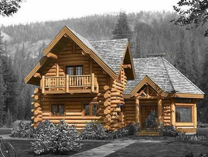 Log cabin country homes pinterest Country log home