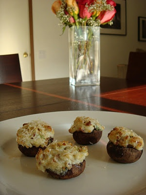 Blue Cheese and Bacon Stuffed Mushrooms | Appetizers | Pinterest