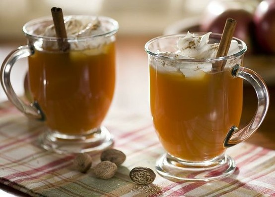 Apple Cider warmed with a little brown sugar and cinnamon (or cinnamon ...