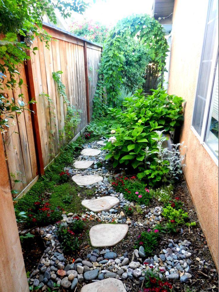 Narrow side yard landscaping ideas car interior design for Narrow garden designs