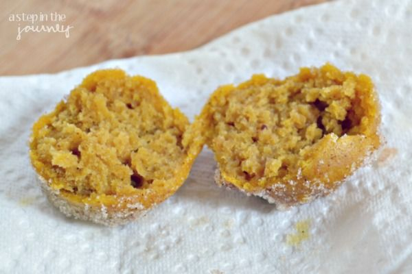 Pumpkin Spice Baked Donut Hole Recipe | stuff to eat. | Pinterest