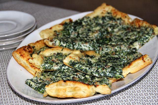 Spinach Mushroom Tart | Julia Childesque | Pinterest