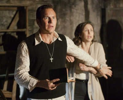 "In the trailer for Warner Bros. new film ""The Conjuring,"" Patrick Wilson and Vera Farmiga play real-life paranormal investigators Ed and Lorraine Warren, who find themselves in the midst of their most terrifying case yet."