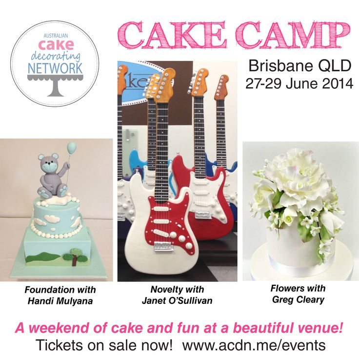 Our next cake camp is near brisbane qld 27 29 june 2014 join us for