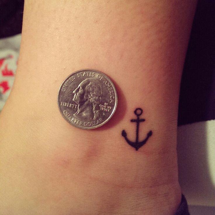 Small simple anchor tattoo Tattoo Pinterest