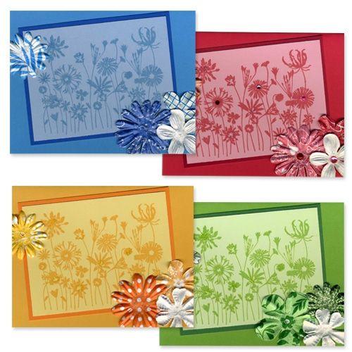 Beautiful tone-on-tone cards