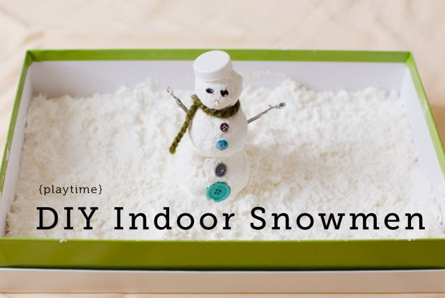 2 ingredient indoor snow  Way messy.