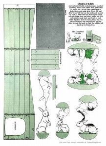 Printable Easter Paper Toy from 1914